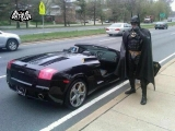 Batman Driving on the Freeway in His Lamborghini [Video]